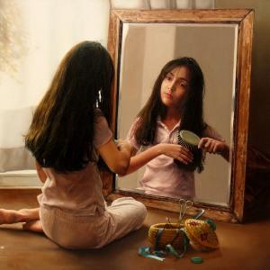 Во сне перед зеркалом расчесывать волосы