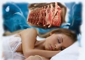 почему снится голый мужчина с сырым мясом