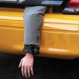В багажнике