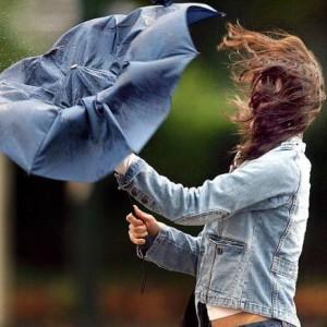 Сильный ветер, буря с дождём