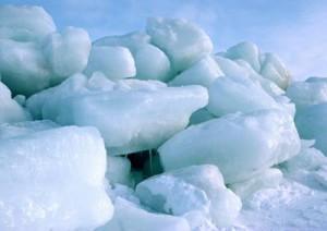 глыбы льда