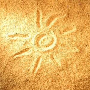 красивый, желтый песок