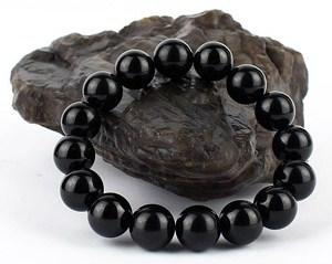 браслет из черного турмалина