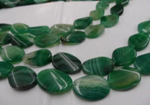 браслет из зеленого агата