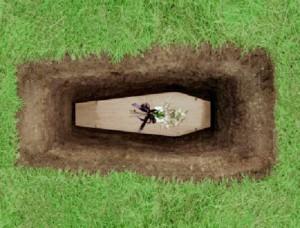 закапывание гроба