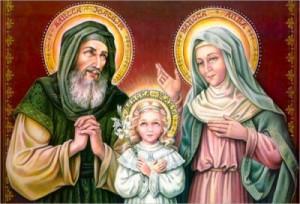 Икона Святых Иоакима и Анны