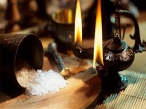 очищение пространства солью