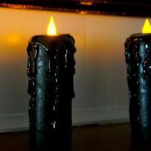 семь свечей черного цвета