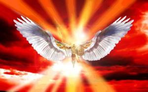 архангел с крыльями