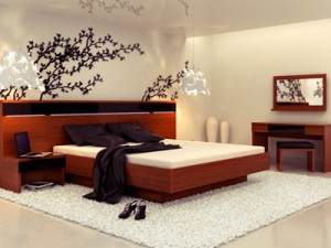 spalnya po fen shuy 300x225 - Расстановка мебели по фен шуй: правила и особенности