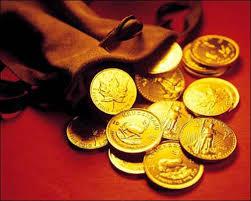 монеты в мешочке