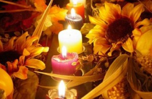 подсолнухи и свечи